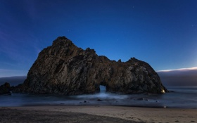 Обои Pfeiffer Beach, Big Sur, California