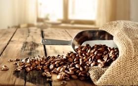 Обои мешок, кофейные зерна, bag, лопатка, shoulder, coffee beans