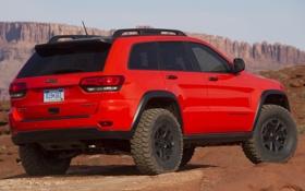 Картинка машина, Concept, красный, задок, Jeep, Grand Cherokee, Trailhawk II