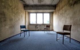 Обои комната, стулья, окно