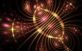 Обои волны, свет, круги, блики, вспышка