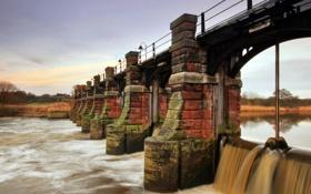 Картинка мост, река, Wales, United Kingdom, Mostyn