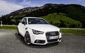 Обои Audi, Горы, Ауди, Белый, День, Фары, ABT