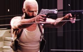 Обои оружие, пистолеты, стрельба, guns, пули, game, Max Payne 3