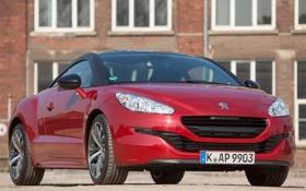 Обои машина, Peugeot, RCZ, вид спереди, пежо