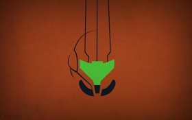 Обои минимализм, Samus Aran, blo0p, Metroid