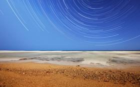Обои пляж, звезды, океан, Аргентина, Мирамар