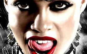 Картинка язык, глаза, лицо, рот, губы