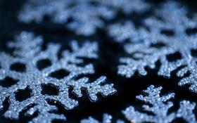 Картинка зима, снежинки, новый год, рождество, christmas, new year