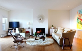 Обои interior, house, sofa