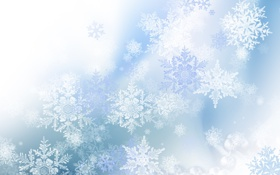 Картинка зима, снежинки, узоры