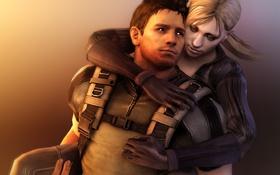 Обои Resident Evil, fanart, Jill Valentine, Chris Redfield, Resident Evil 5, Biohazard 5