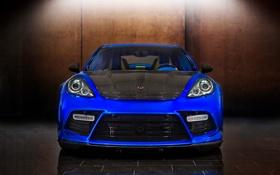 Обои Turbo, Porsche, авто, car, blue, Panamera, Mansory