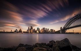 Обои Небо, Город, Австралия, Сидней, Архитектура, skyline, Sydney