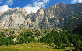 Обои горы, скалы, Италия, Italy, деревья.