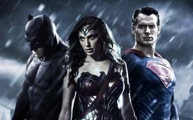 Обои Batman v Superman: Dawn of Justice, princess diana, Ben Affleck, wonder woman, Gal Gadot, Superman, ...