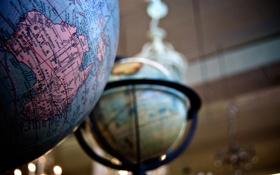 Обои карта, глобус, австралия