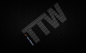 Обои буквы, надпись, минимализм, цифры, ttw, tom wilson