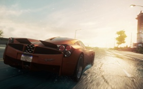 Обои car, NFS, 2012, road, Need for speed, Pagani Huayra, Most wanted