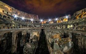 Обои night, Roma, colosseum