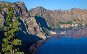 Обои горы, природа, озеро, USA, кратер, Oregon, Crater Lake National Park