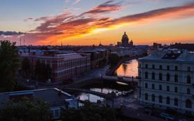 Картинка здания, высота, дома, вечер, Russia, питер, санкт-петербург
