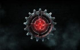 Обои игра, эмблема, рендер, шестерня, Legend of Grimrock