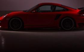Обои красный, полумрак, photographer, 911 Turbo, Ruzdi Ekenheim