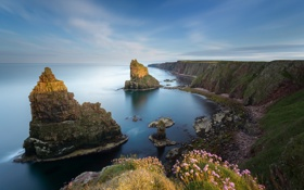 Картинка Caithness, North Sea, скалы, Duncansby Stacks, Шотландия, Scotland, Северное море