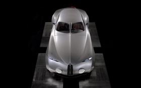 Обои чёрный фон, концепт кар, серебристый, BMW