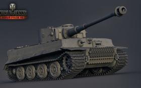 Обои Тигр, Германия, танк, танки, Germany, рендер, WoT