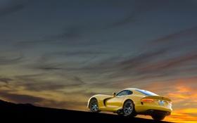 Обои жёлтый, Dodge, Viper, SRT