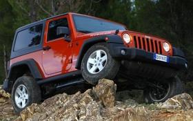 Обои камни, джип, внедорожник, off road, передок, колёса, jeep