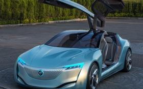 Обои Buick, фары, Riviera, авто, передок, концепт, Concept