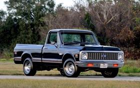 Обои Chevrolet, Шевроле, 1971, Пикап, передок, Pickup, C10