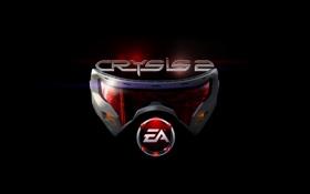 Обои логотип, маска, crysis