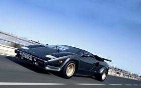 Обои car, Lamborghini, road, speed, Countach, 5000