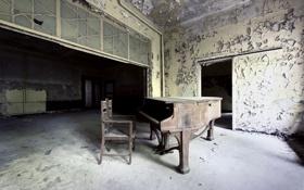 Обои музыка, зал, пианино