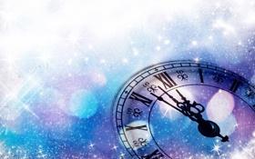 Обои время, праздник, часы, новый год, 2014