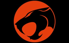 Обои red, logo, black, Thundercats