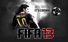 Обои футбол, игра, messi, FIFA 13