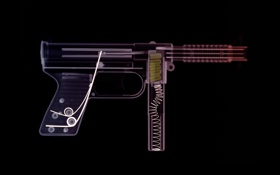 Картинка оружие, автомат, рентген, патроны, снимок