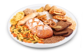 Обои хлеб, хворост, сушки, макароны, картофель, тмин, паста
