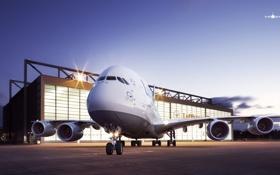 Обои Самолет, Авиация, Airbus, А380