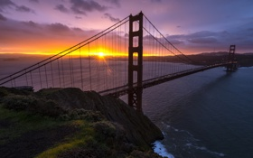 Обои California, United States, Sausalito, Golden Gate