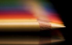 Обои макро, цвет, карандаш