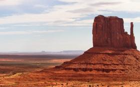 Картинка небо, Monument Valley, песок, Аризона, Юта, пустыня, горы