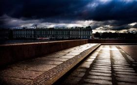 Обои река, Питер, Санкт-Петербург, Эрмитаж, набережная, Нева, St. Petersburg