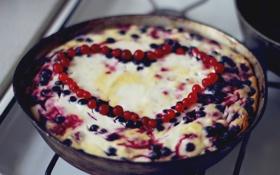 Обои ягоды, сердце, сладость, смородина, вкусно