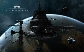 Обои станция, eve, орбитальная, tyrannes